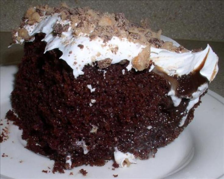 Chocolate Thunder Cake Recipe from Devilish Desserts.A friend mentioned the author of the book Thunder Cake and so I wanted to see what showed up .Both this cake and the book look soooooooooo good!!!!!!!!!!