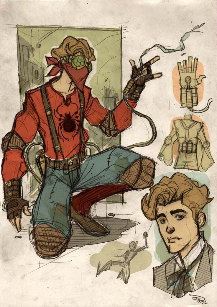 Steampunk Spider-Man and other Awesome Art Picks.: Steampunk Spiderman, Steampunk Redesign, Comic Books, Dos Medri, Steampunk Superhero, Steampunkspiderman, Spiderman Steampunk, Character Design, Steampunk Spiders Men