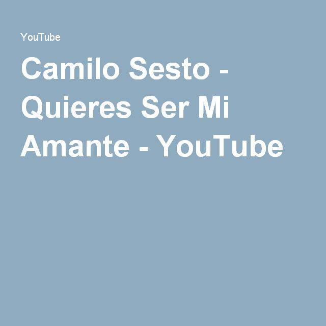 Camilo Sesto - Quieres Ser Mi Amante - YouTube