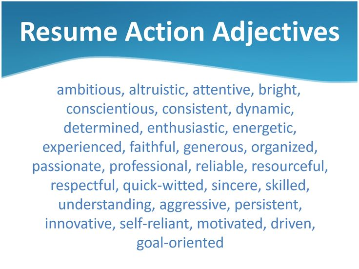 Power Resume Adjectives   Google Search  Self Descriptive Words For Resume