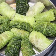 Every Eastern European country has its version of stuffed cabbage rolls. For Lithuanians, it is holubki, for Poles it is golabki, for Serbs, it is sarma. However they are spelled, stuffed cabbage rolls are the original pocket meals.