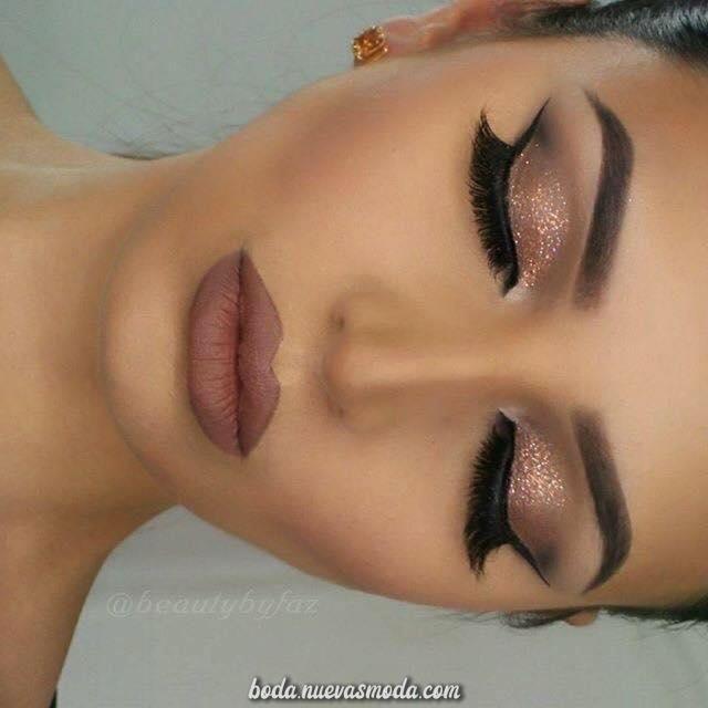 Excelente Hermoso maquillaje para piel morena