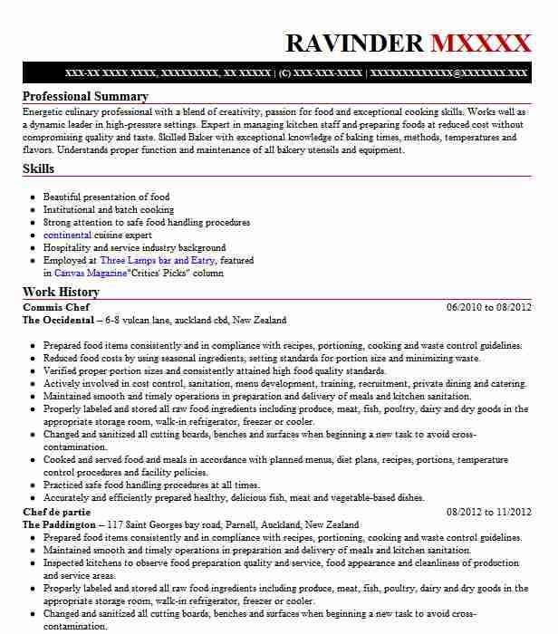 Commis 3 Resume Examples In 2020 Chef Resume Resume Examples Good Resume Examples