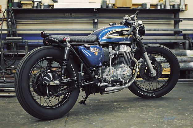 Honda CB750 by Mike Salek. Through all the Honda CB750 customs out there he really succeeded in making it stand out