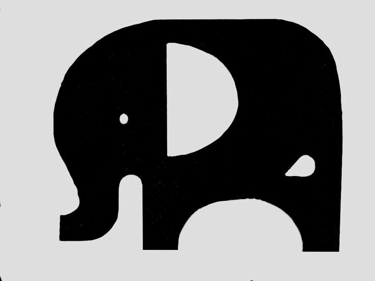 Elephant stencil | Ele...