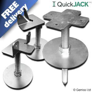 QuickJACK PRO (SOFT GROUND) Adjustable Easy-Fit Shed Base Foundation