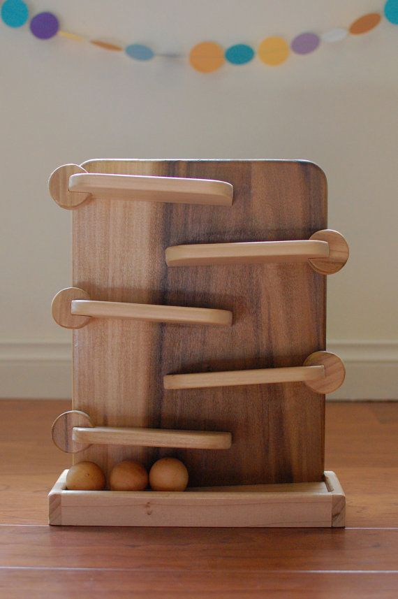 Wood Toy, Easter Gift, Ball Run, Natural Wood Toy, Montessori Toy on Etsy, $60.00
