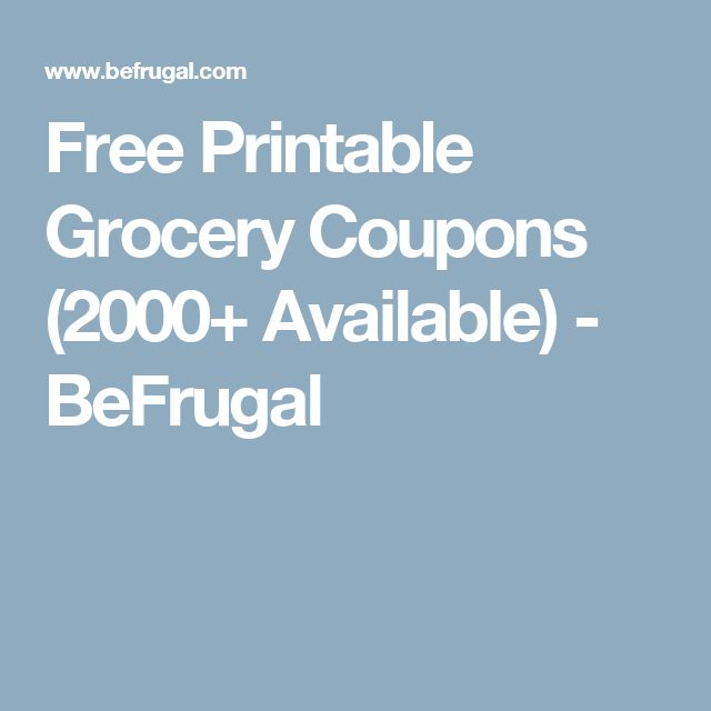 Be frugal coupons