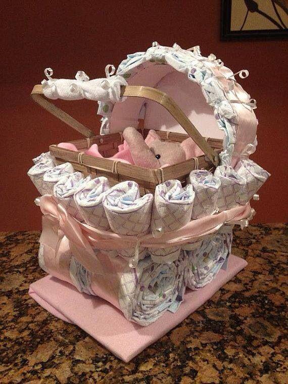 How To Make A Diaper Cinderella Carriage Cake