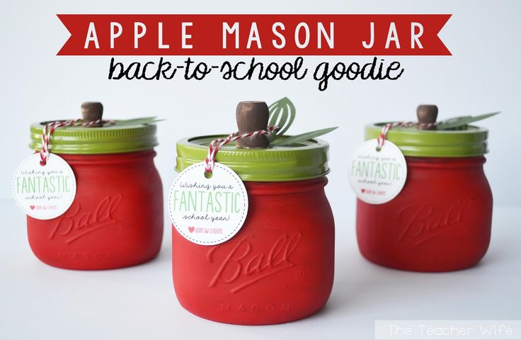 Apple Mason Jars: Perfect for Back-to-School!