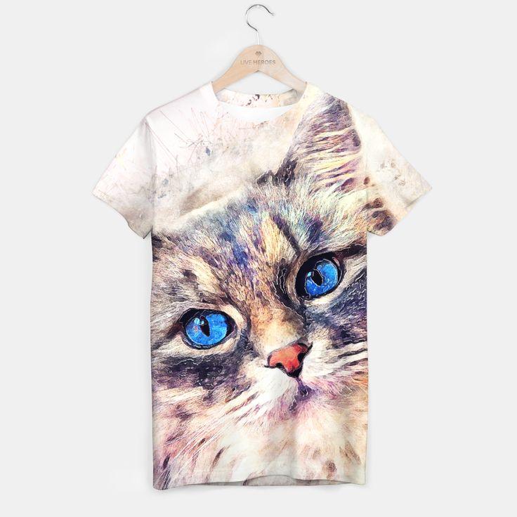cat T-shirt, Live Heroes