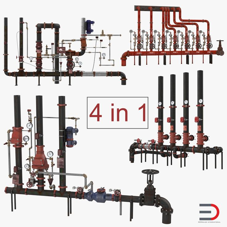 3D Industrial Pipes Collection