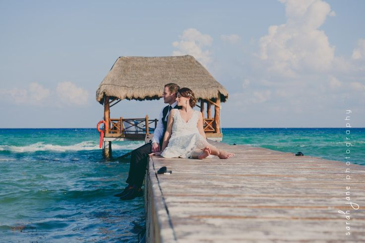 Wedding Photography - Bride and Groom on a pier