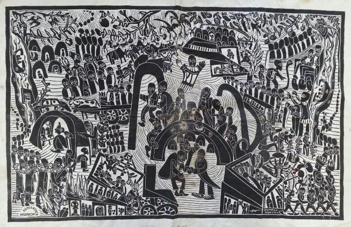 Azaria Mbatha - fabric print