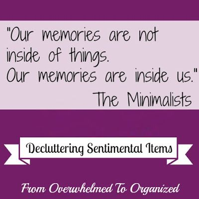 Decluttering Sentimental Items - Day 1 | From Overwhelmed to Organized: Decluttering Sentimental Items - Day 1