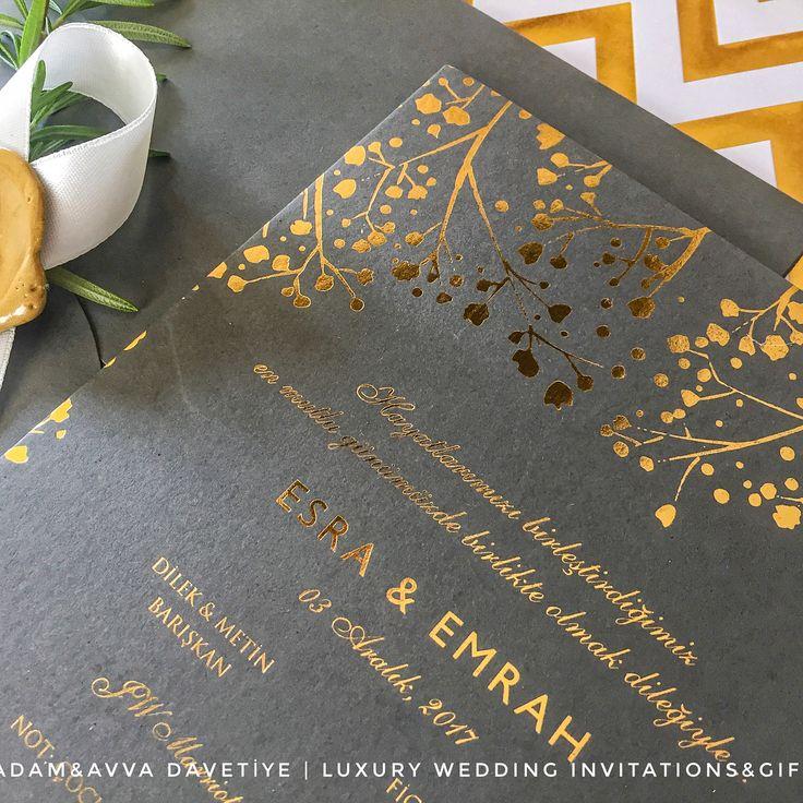Kişiye Özel Lüks Tasarım Düğün Davetiyesi - Luxury Wedding Invitation