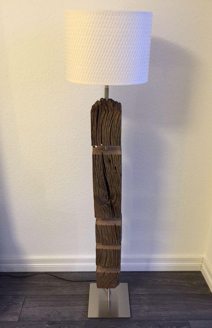 treibholz lampe holz unikat stehlampe treibholz lampe unikat holz betonlampe in 2019 pinterest. Black Bedroom Furniture Sets. Home Design Ideas
