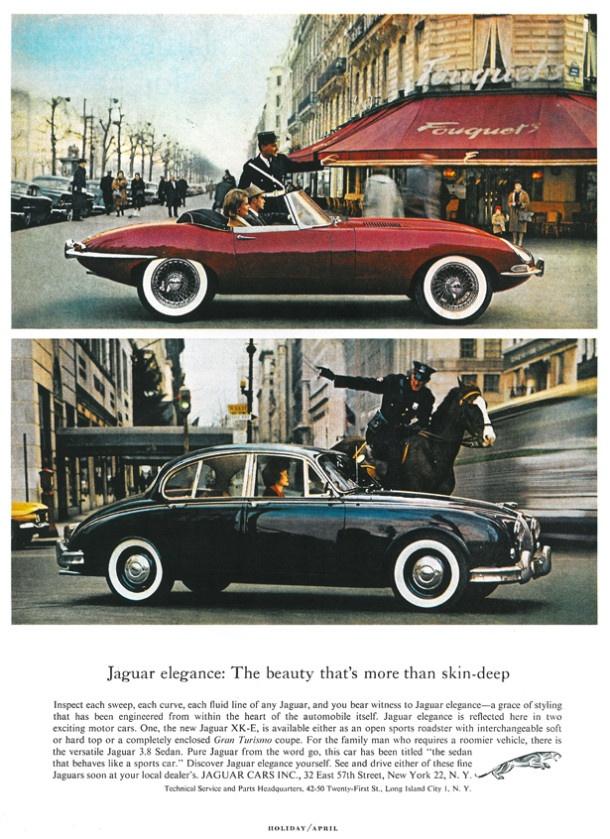 Jaguar E-Type 1962 http://www.autorevue.at/oldtimer/autowerbung/1962-jaguar-e-type.html