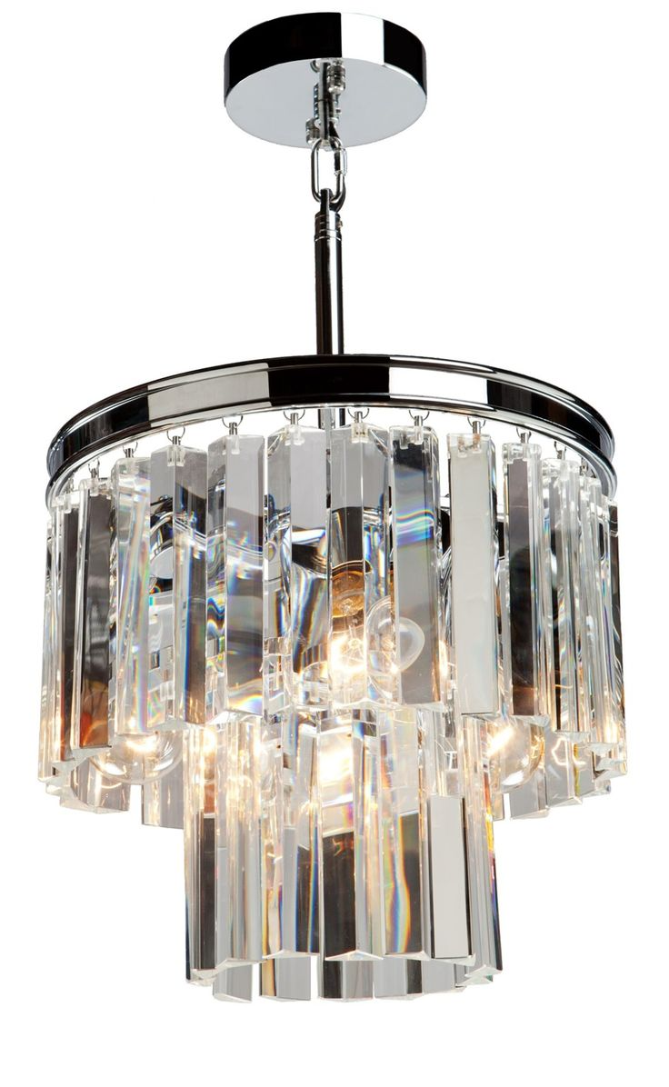 Wh wholesale vintage lead crystal table lamp buy cheap - Sale El Dorado 3 Light Mini Chandelier In Chrome Artcraft Lighting From The Original Bowery Lights Shop Our Large Artcraft Lighting Collection And Save On