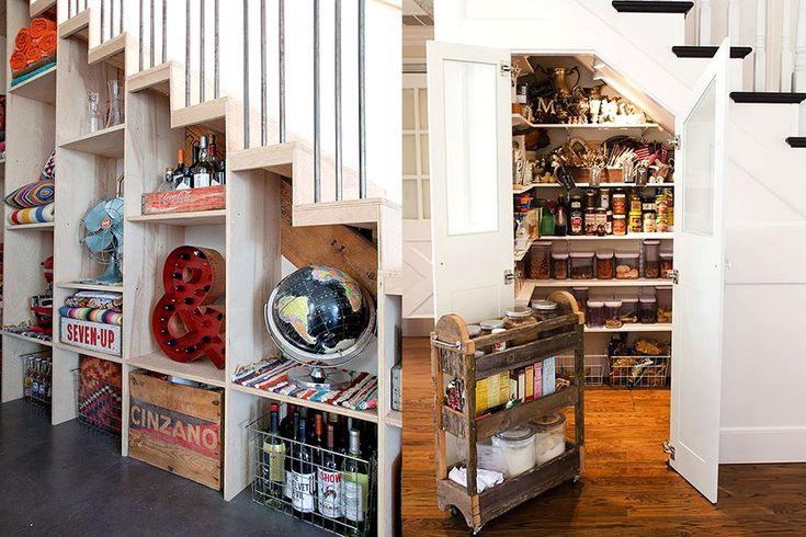 5 ideeën om de ruimte onder de trap beter te benutten - More interior inspiration and tips on Dutch weblog http://www.stylingblog.nl