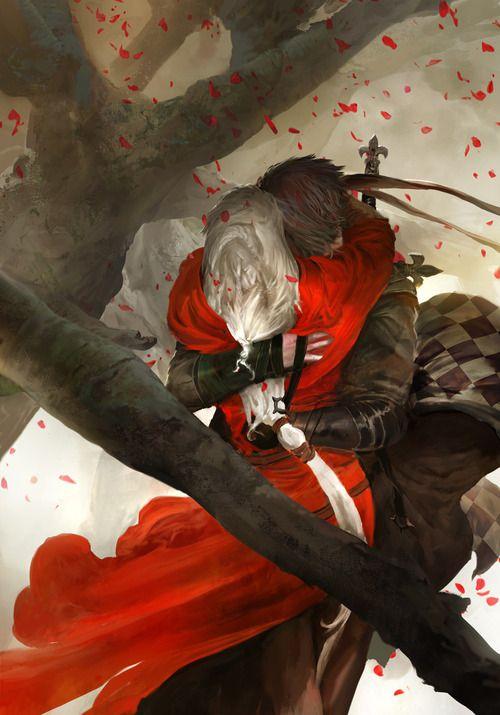 kekai kotaki - http://kekai-k.tumblr.com/post/100603073848/the-wolf-and-the-red