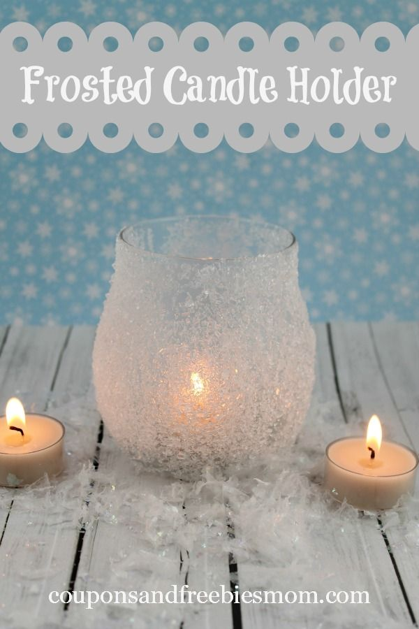 DIY Frosted Candle Holder! Great gift idea! Easy and fun craft for kids too!