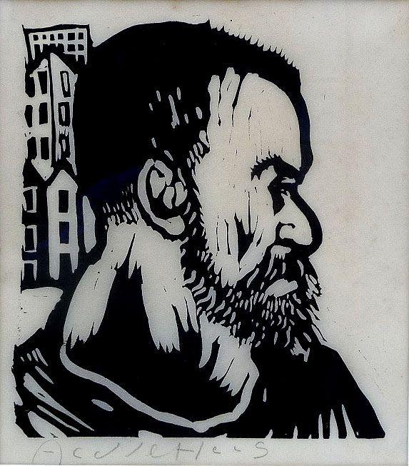 Aad de Haas (1920-1972), Zelfportret, 1968