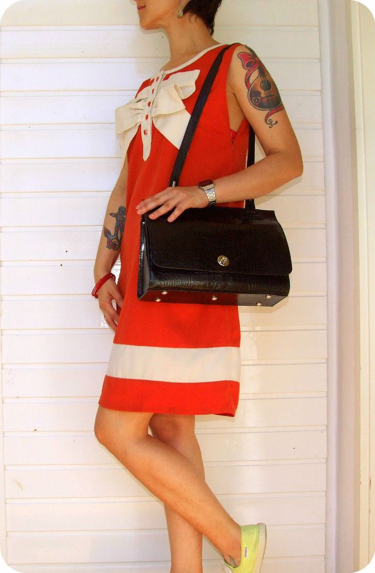 I SANTI Vintage Leder Schultertasche Hand- Tasche Kroko Leather Bag Sac Italy in…