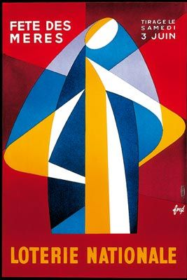 Loterie nationale fête des mères Année: 1961 Dimensions: 57,9 cm x 38,3 cm Référence:AF 609 Affiche lithographiée http://fore-affichiste.com/
