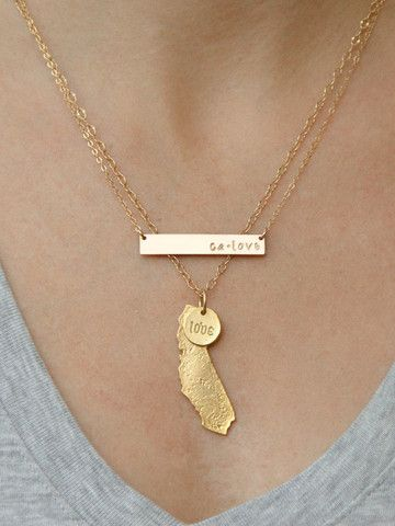 California Gold Necklace Set <3