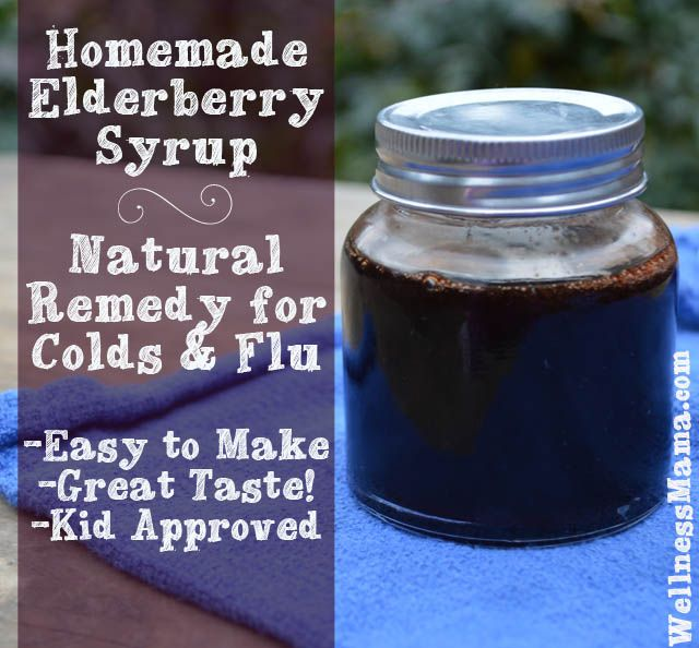 How to Make Elderberry Syrup for Flu Prevention from WellnessMama.com #fluprevention #wellness #healthy