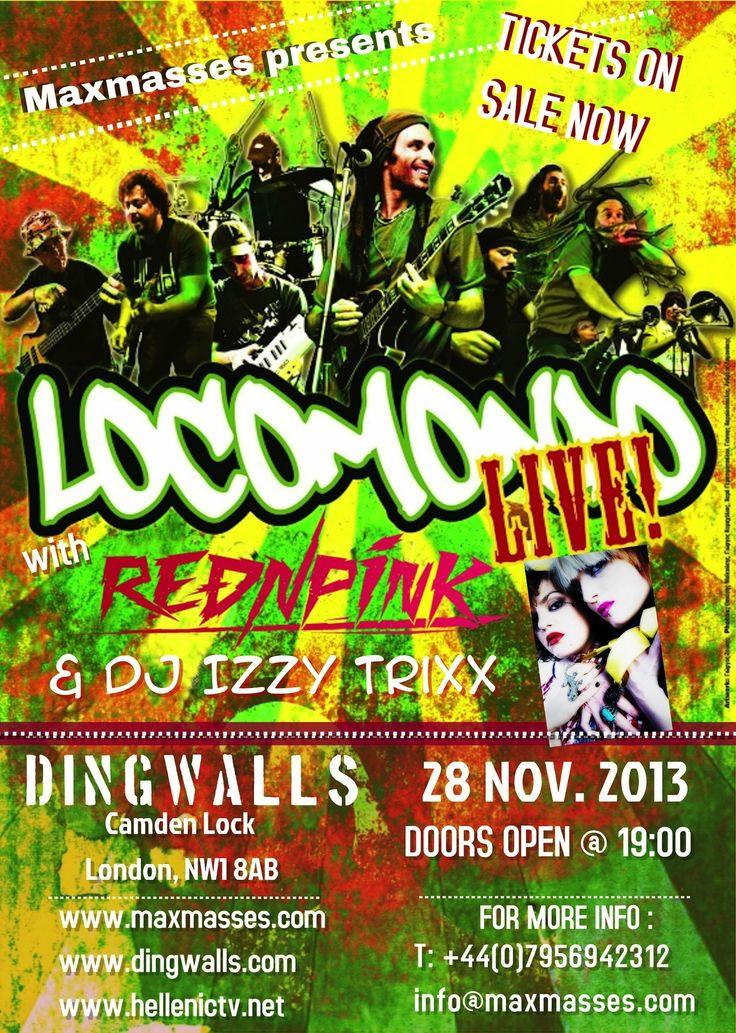 Οι Locomondo στις 28 Νοεμβρίου @ Dingwalls http://www.edolondino.net/oi-locomondo-28-noemvriou-dingwalls/