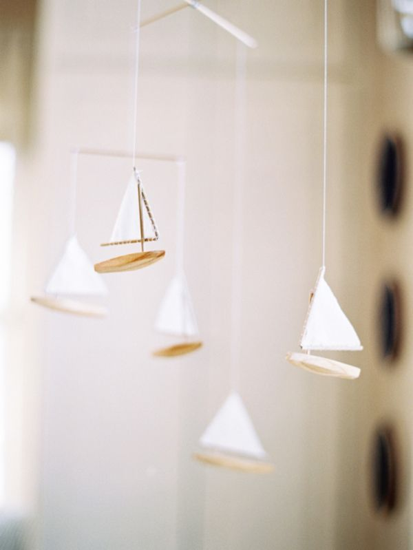 sweet sailboat mobile for nursery | jessica sloane