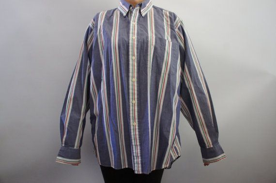 Vintage 80s 90s Ralph Lauren Chaps  Mens Shirt by SycamoreVintage