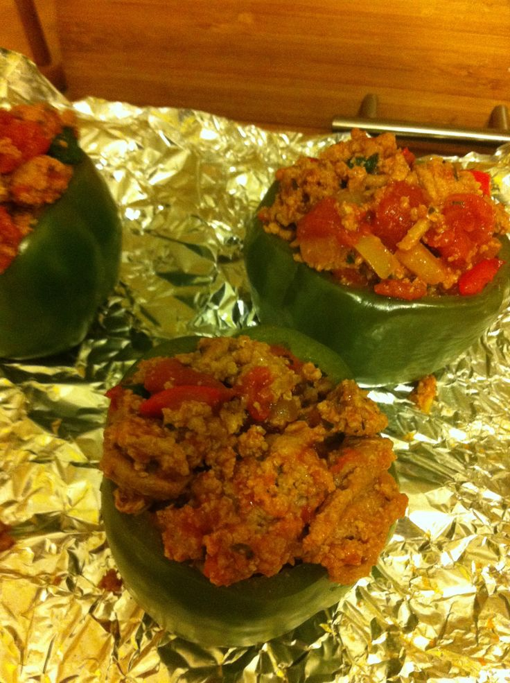 Hello another yummy diet friendly recipe! Didn't realize there would be so many healthy meals during the round up did you?! These are turkey and veggie stuffed peppers and they are super tast…
