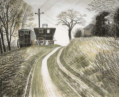 Watercolour work of Eric Ravilious.   via Hark! A Vagrant tumblr