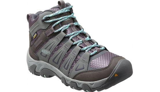 Keen W's Oakridge Mid WP Shoes Gray/Shark