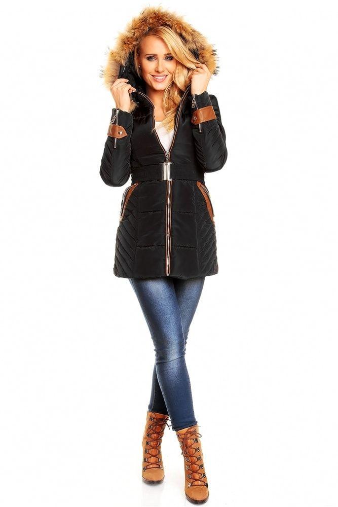 Černá dlouhá bunda