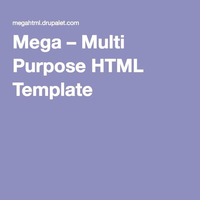 Mega – Multi Purpose HTML Template