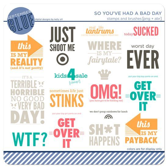 +SeptBlue_BadDayStampsLife Printables, Photoshop Elements, Fillers Cards, Life Inspiration, Septblue Baddaystamp, Projects Life Journe, Projects Life Scrapbook, New Products, Project Life Cards