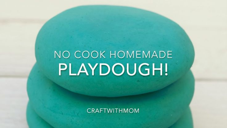 Homemade no - cook Playdough   Σπιτική Πλαστελίνη