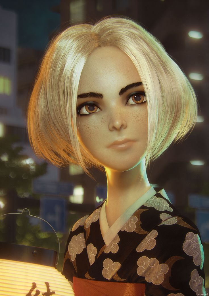 http://www.moonday.fr/project/月-tsuki/ #CG #3D #3Dart #Mentalray #Substancedesigner #Substancepainter #japan #kimino #girl #hair #hairandfur #hairfarm #lantern #Night #akita #blond #teen #character #cgart #3dsmax #3dmax #Zbrush