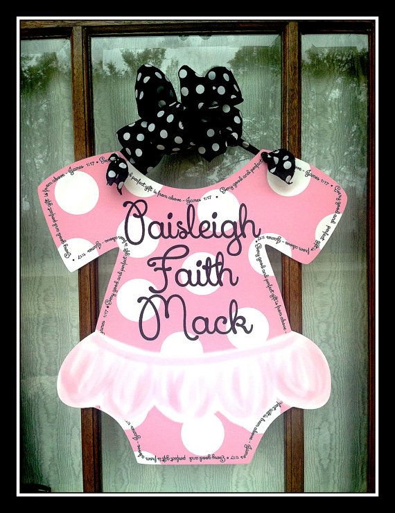 Hospital Door Baby Tutu Welcome Home Baby Sign Welcome Baby Personalized Door Hanger Choose your colors Birth Stats Baby Outfit with tutu