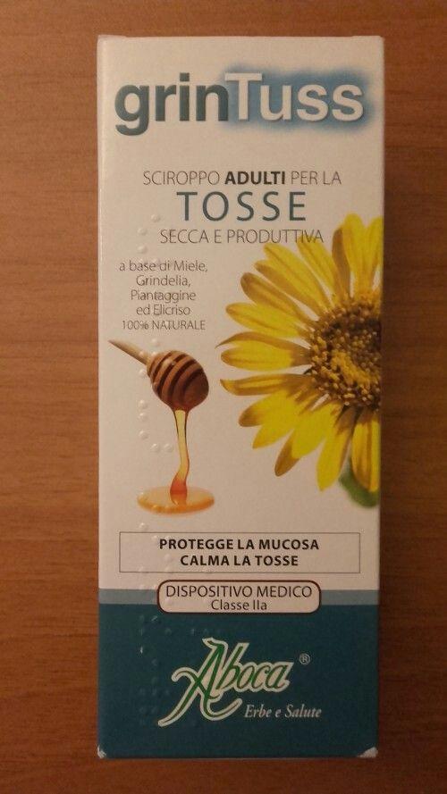 Tosse secca, grassa, produttiva. La cura lo sciroppo Grintuss Aboca 100% naturale con estratti di Grindelia, Piantaggine, Elicrisio e aggiunta di miele.