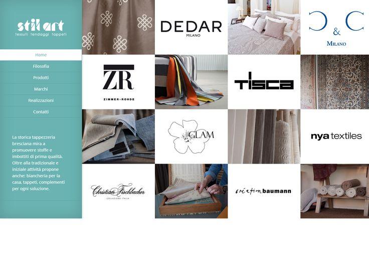 Sito web realizzato da VoxArt www.stil-art.it #tessuti #tendaggi #tappeti #arredamento