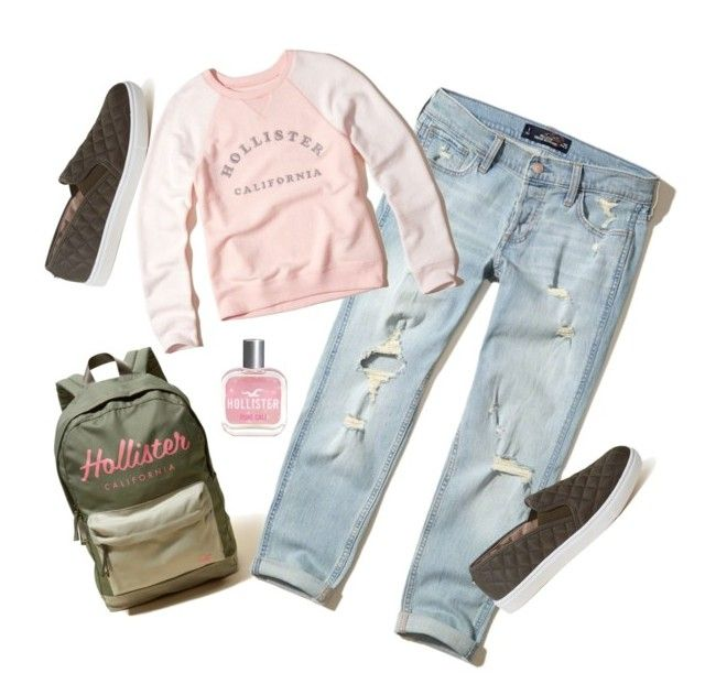 """""""Hollister Look."""" by lynnbain ❤ liked on Polyvore featuring Hollister Co."""