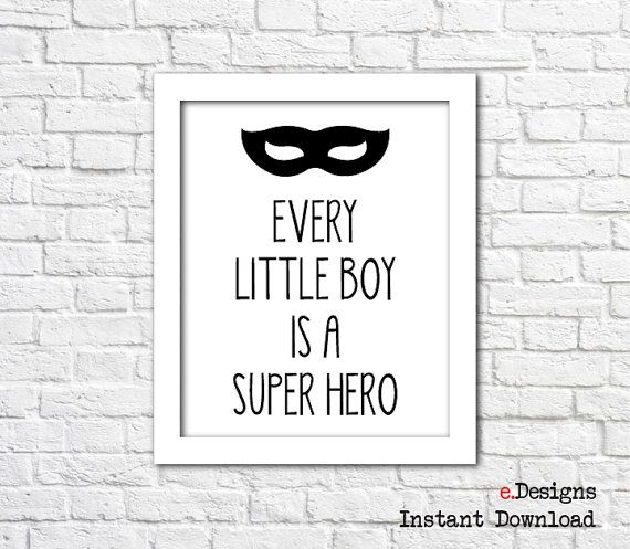 Printable Nursery Wall Art Every Little Boy Is A by eDesignss
