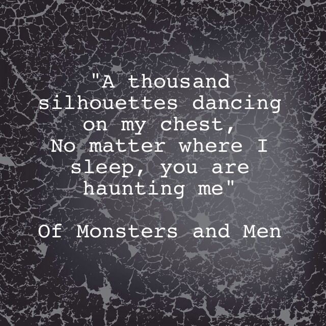 Monster and men lyrics