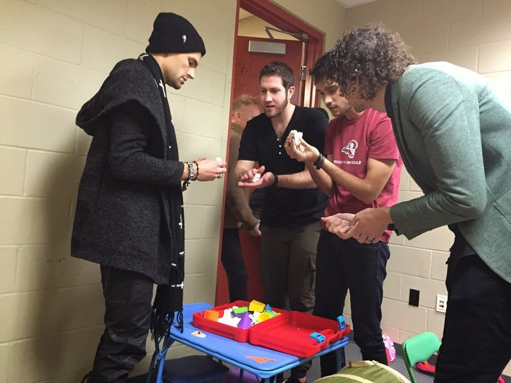 Winterjam 2015: Joel & Luke from for King & Country and some friends playing sand in the make shift playroom in Jacksonville, FL. :)
