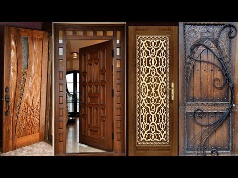 35 Modern And Stylish Wood Work Front Door Design Latest